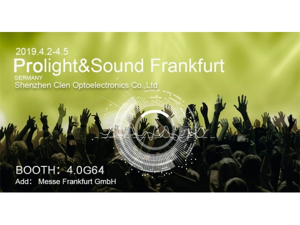 Prolight + Sound Frankfurt in 2019