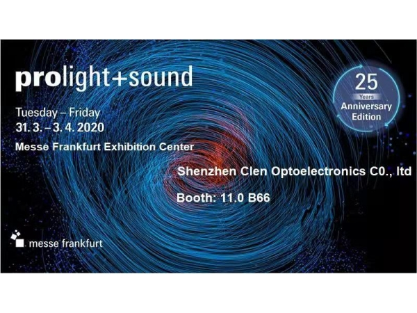 2020 Frankfurt Prolight + Sound